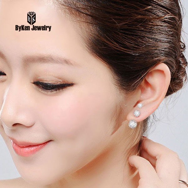 fe8e4d610 Aliexpress.com : Buy High Quality 6/8/10mm White MicroCrytstal Paved Bead  Earring Stud (lead&nickel free/Safe to skin) from Reliable earrings stud  suppliers ...