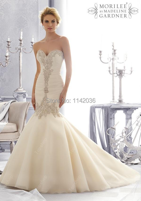 Aliexpress.com : Buy Mermaid Wedding Dresses With Pearls 2016 New ...