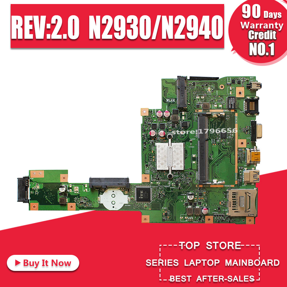 X553MA Motherboard REV:2.0 N2930/N2940 For ASUS A553M F553M K553M X503M Laptop Motherboard X553MA Mainboard X553MA Motherboard