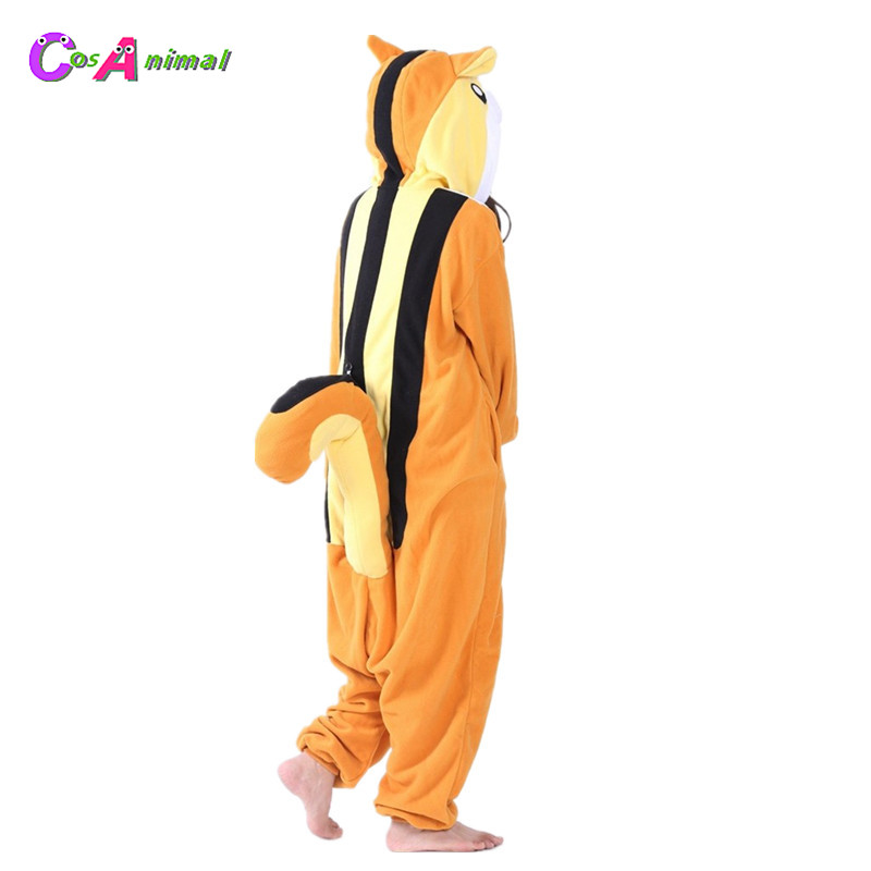 Squirrel Adult's Polar Fleece Kigurumi Women and Men Cartoon Animal Onesies Pajama For Halloween Carnival Masquerade Party
