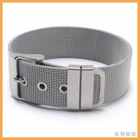 Free Shipping Fashion Jewelry Stainless Titanium Steel Silver Wide Watchband Watch Strap Links Women Friendship Bracelets