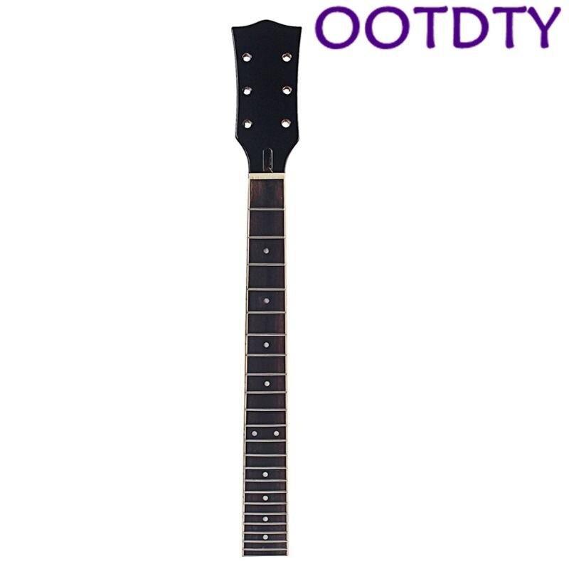 OOTDTY manche de guitare pour LP 6 cordes 22 frette droite érable palissandre