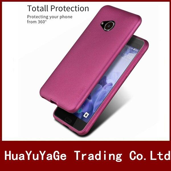Cas de téléphone Pour HTC Un X10 X-Niveau Soyeux de luxe TPU Mat Ultra mince retour cas Anti-chute antichoc couverture pour HTC U Jouer cas