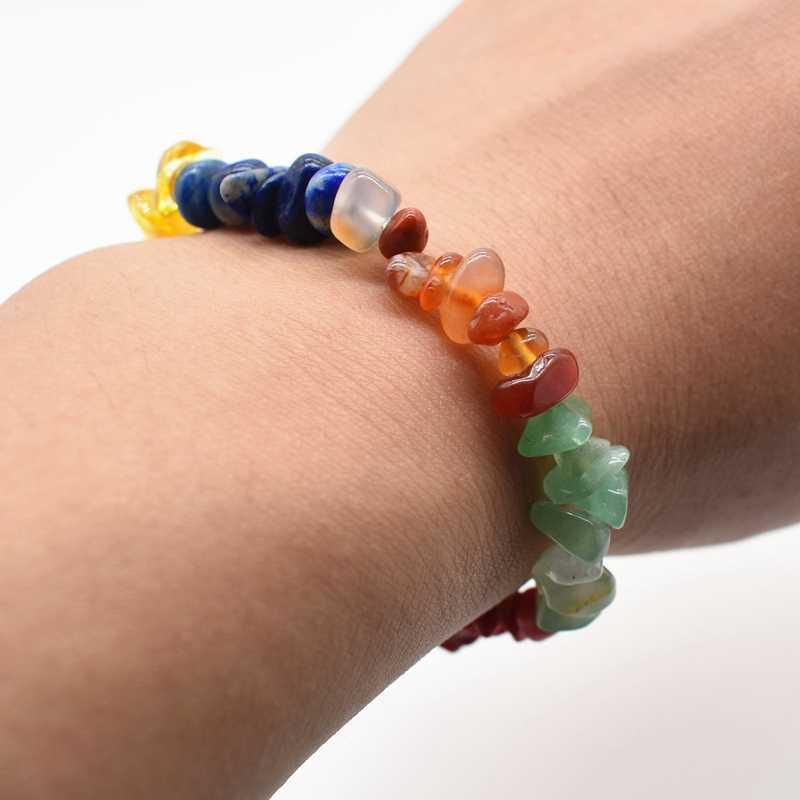 7 chakra pierre naturelle cristal lapis lazuli œil de tigre pierre de guérison équilibre pierre de couleur Bracelet livraison directe