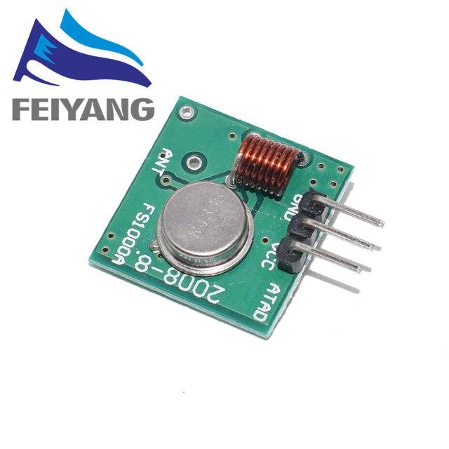433 Mhz nadajnik i odbiornik RF moduł zestaw łączników dla ARM/MCU WL DIY 315MHZ/433MHZ bezprzewodowy pilot do arduino Diy Kit