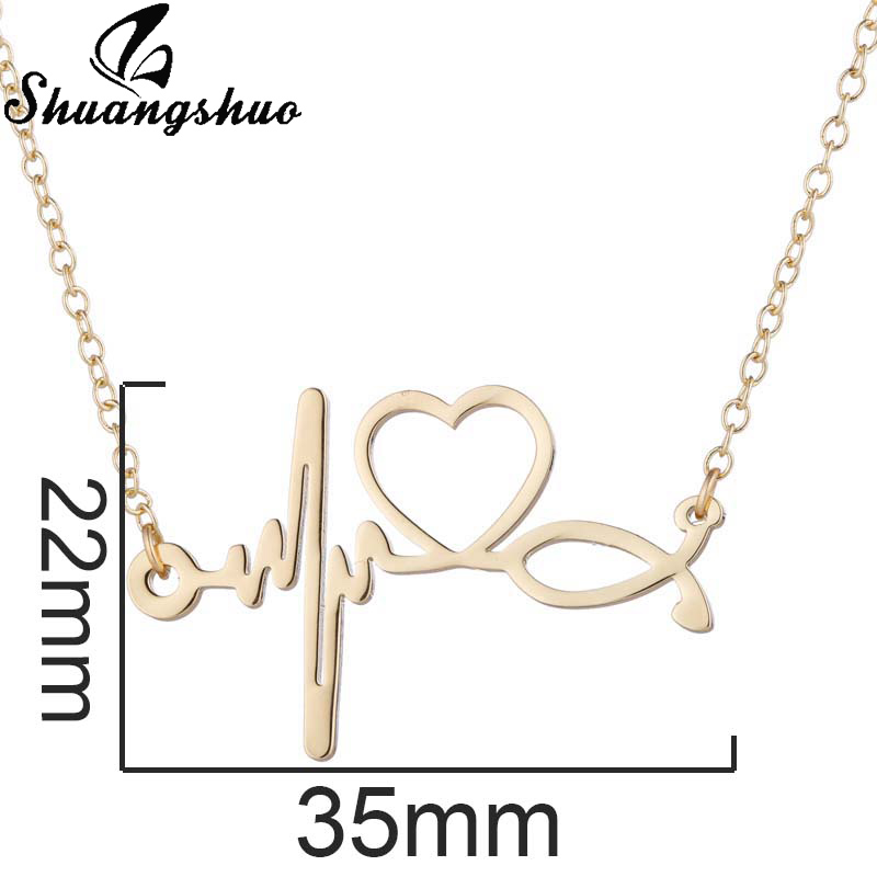Stethoscope Heartbeat Necklace
