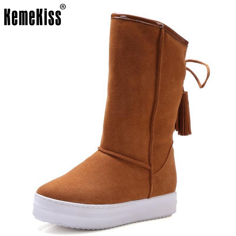 Winter Real Leather Boots Thickened Fur Women Boots Short Ankle Snow Boots Lace Up Platform Footwear Women Shoes Size 33-42