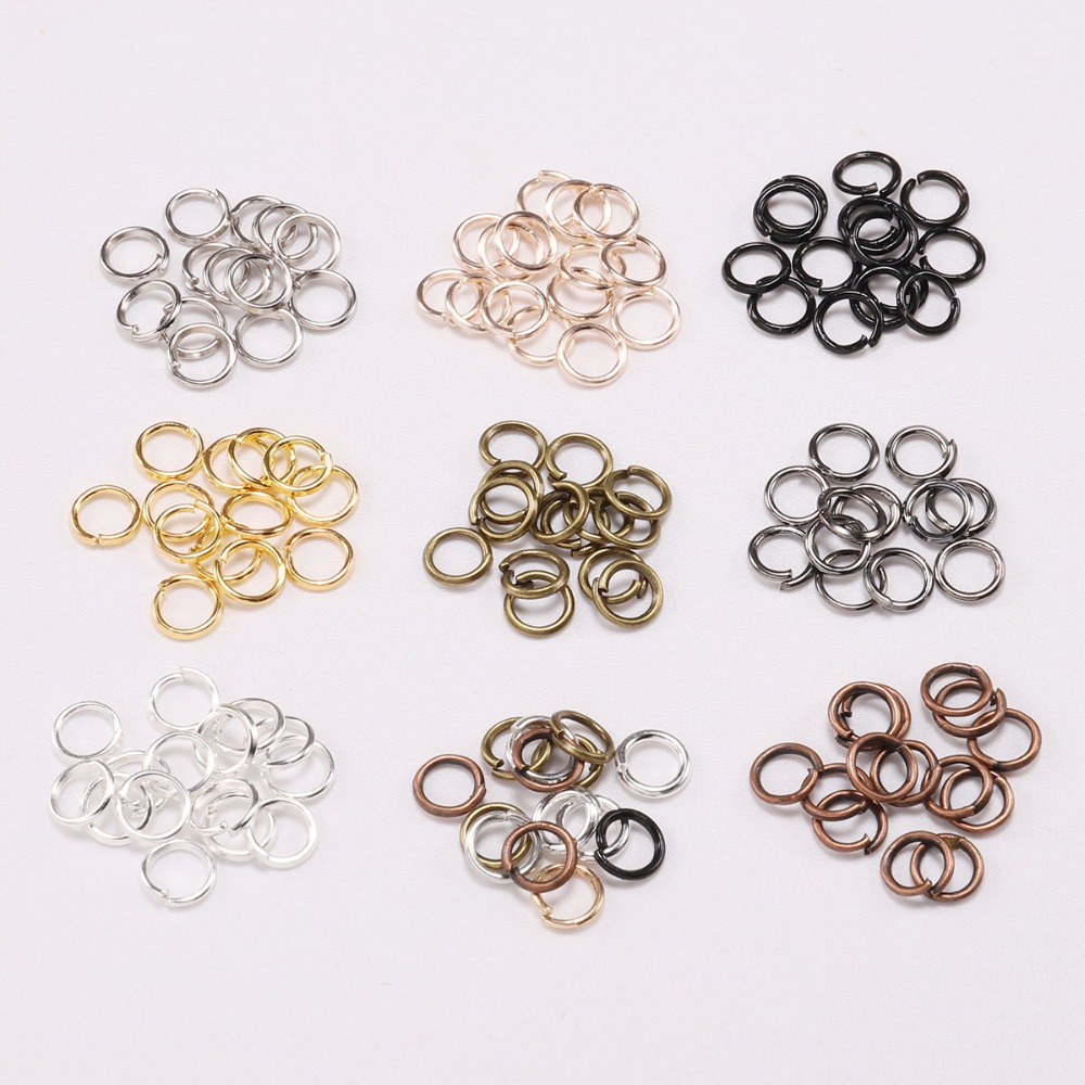 4mm x 0.8mm 100//250 Silver Plated CLOSED Jump Rings Findings lady-muck1