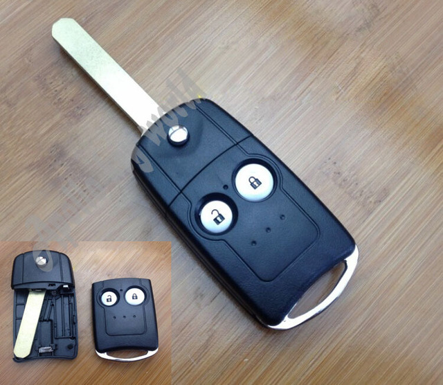 2 BUTTONS REPLACEMENT FLIP FOLDING REMOTE KEY SHELL CASE FOR HONDA CRV ODYSSEY FOB COVER+FREE SHIPPING