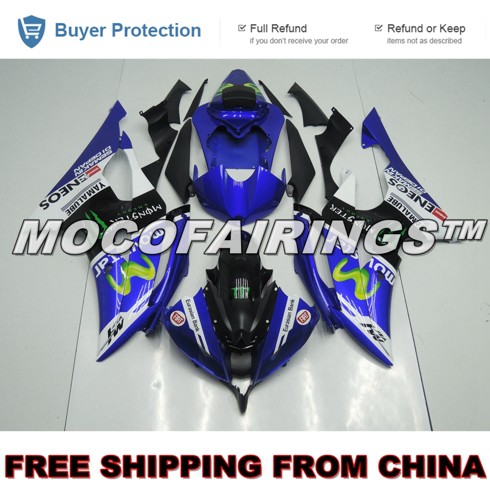 YZF R6 2008 2009 2010 2011 2012 2013 2014 Injection Plastic ABS Fairing Kit For Yamaha YZF R6