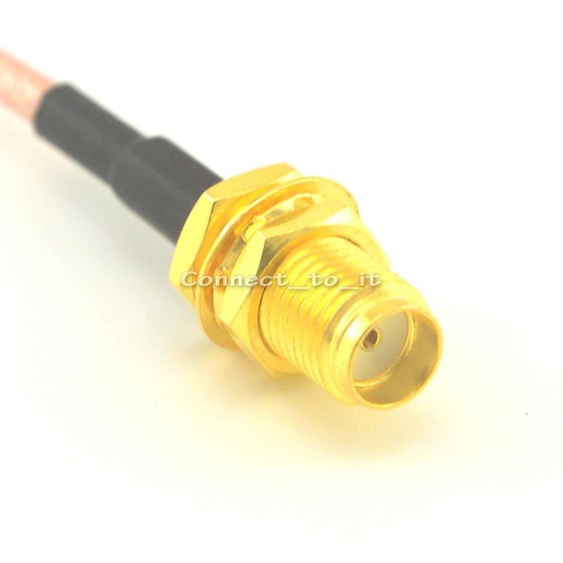 (100pieces/lot) Extension cable SMA plug to SMA Jack bulkhead connector pigtail cable RG316 15cm 30cm 1m