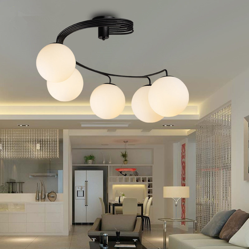 modern brief led ceiling light creative black ceiling lamp vintage luminaria teto pendant. Black Bedroom Furniture Sets. Home Design Ideas