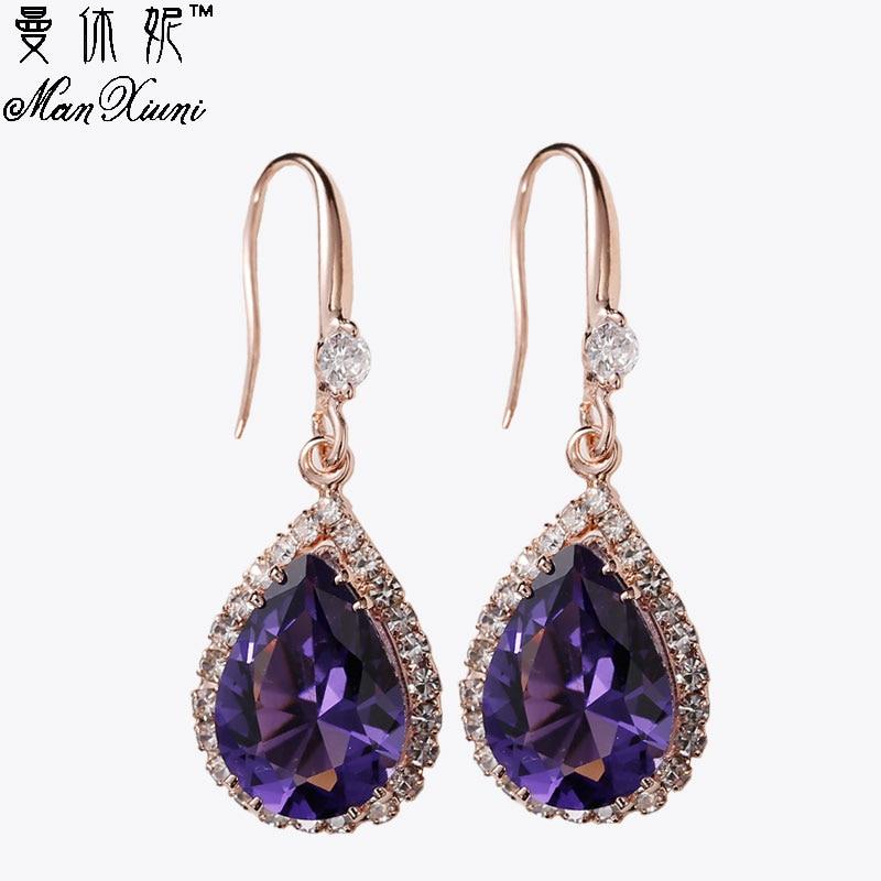 Manxiuni AAA Κυβικά Ζιρκονία Drop - Κοσμήματα μόδας - Φωτογραφία 2