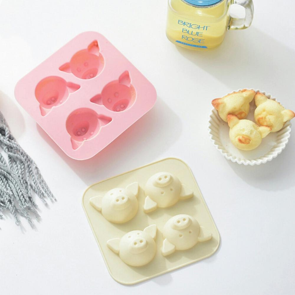 Mignon cochon Silicone gâteau moule riz gâteau moule cuit à la vapeur gâteau moule à la main savon moule Dessert outil