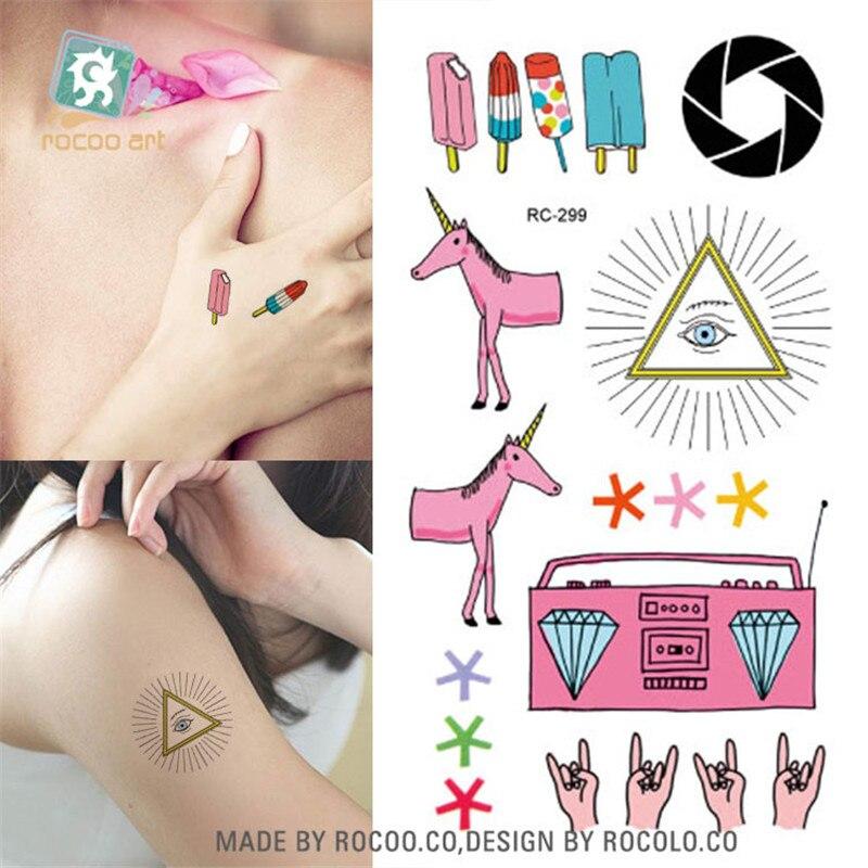 Body Art Waterproof Temporary Tattoos For Women And Children 3d