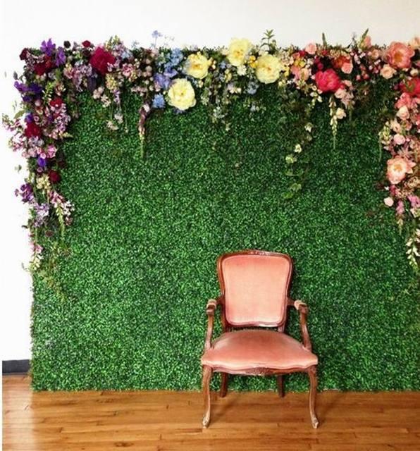 SPR 10pcs/lot 60x40cm Artificial Boxwood Hedges Panels Garden Grass ...