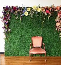 40 60 SPR センチメートル人工つげヘッジパネル庭の草の壁の背景イベントの装飾ガーデンパーティーの装飾