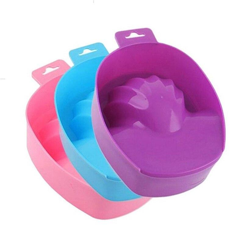 1pcs Nail Art Hand Wash Remover Soak Bowl DIY Salon Nail Spa Bath Treatment Manicure Tools Soak Bowl