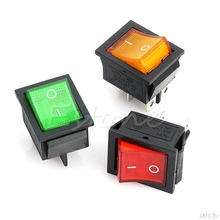 Lamp 4 Pin ON/OFF 2 Position DPST Rocker Switch 16A/250V KCD4-201  19QB ac 250v 16a 4 pin on off i o 2 position dpst snap in boat rocker switch 28x21mm