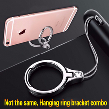 KONG-REY Ring Phone Holder Multifunction Metal lanyard Finger Mobile 2 in 1 For Most Cell