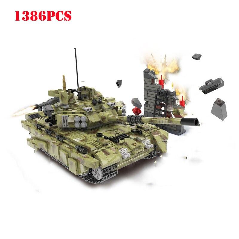 Militaire russie T90 armée Panzer tigre réservoir blocs de construction Compatible Legoing Technic WW2 arme ville briques enfants jouets cadeaux