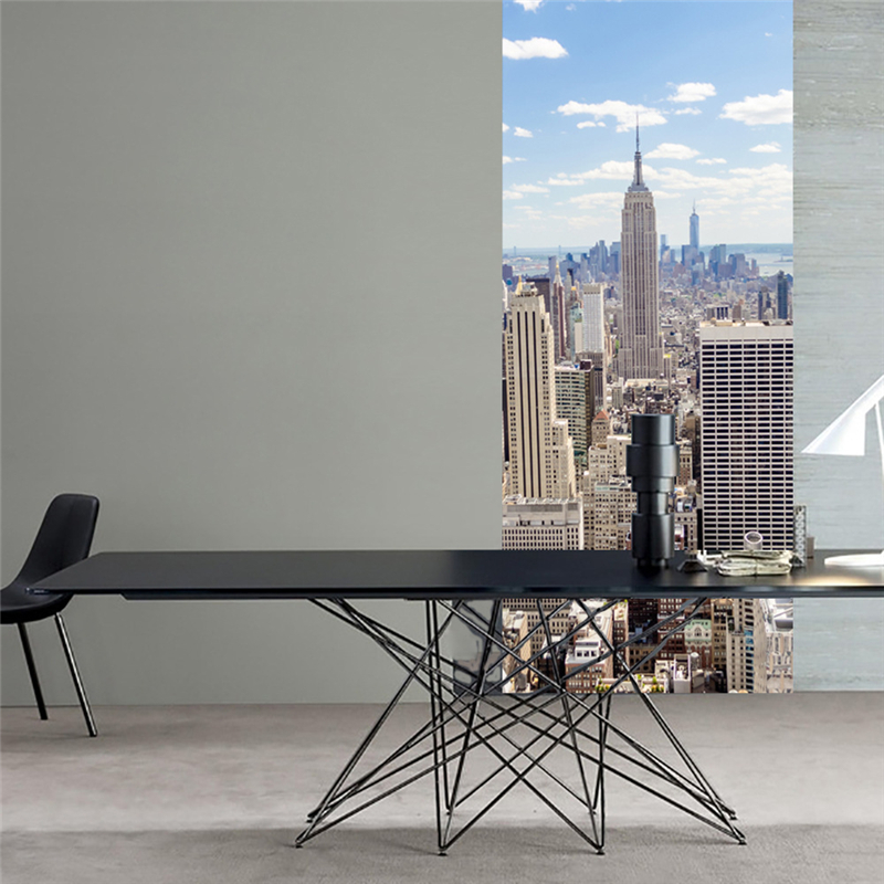 Us 24 99 15 Off 2 Sheets Pcs New York City Scenery Diy Wall Door Poster Delicate Manhattan View Glass Mural Sticker For Bedroom Cafe Shop Decor In