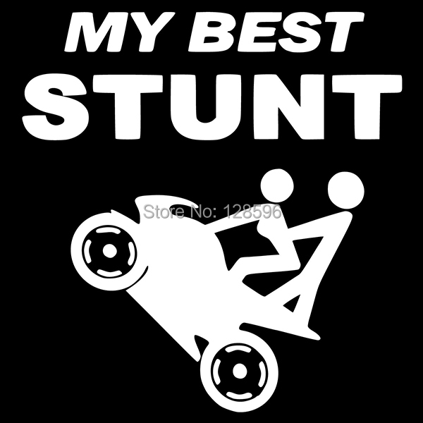 My Best Stunt Motorcycle Car Window Sticker Truck Funny Vehicle - Funny decal stickers for carssticker car window picture more detailed picture about funny car