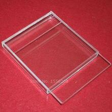 Акриловая прозрачная коробка с крышкой раздвижная подарочная