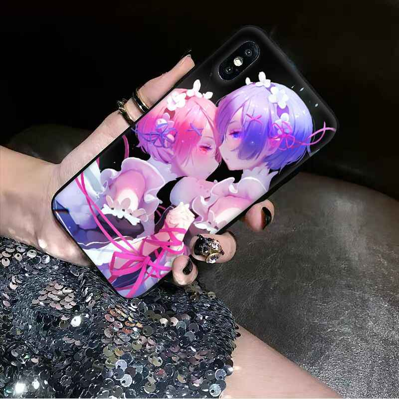 Babaite anime zero rem Soft Silicone black Phone Case for Apple iPhone 8 7 6 6S Plus X XS MAX 5 5S SE XR Cellphones