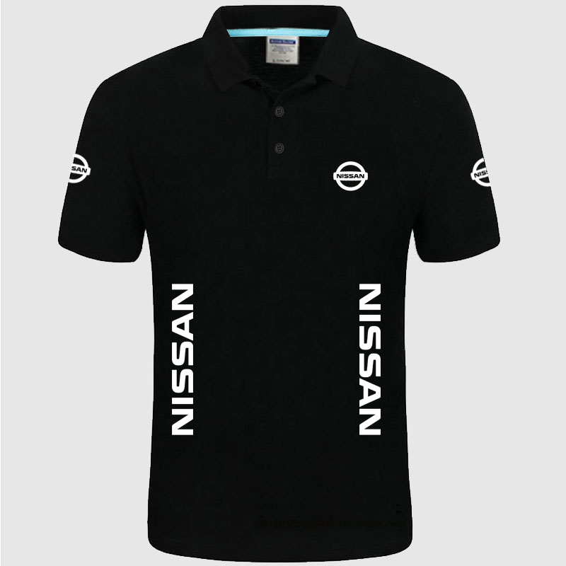 Summer High quality brand Nissan logo   polo   short sleeve shirt Fashion casual Solid   Polo   Shirt unisex shirts