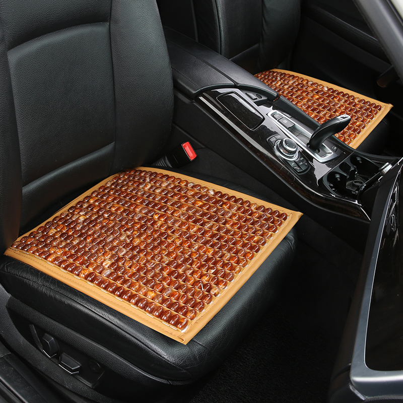 Summer car cushion, wooden bead, resin, jade, breathable, massage, cool pad, single board, small cushion, car cushion, office ch