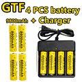 4 Pcs/Set 18650 Battery 3.7V 9800mAh 18650 Rechargeable Li-On Battery Electronic Cigarette LED Flashlight 18650 Batteria Litio