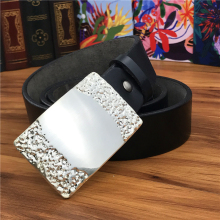 Metal Belt Buckle Leather Men Ceinture Homme Genuine Strap Riem Waist Male Wide MBT0016
