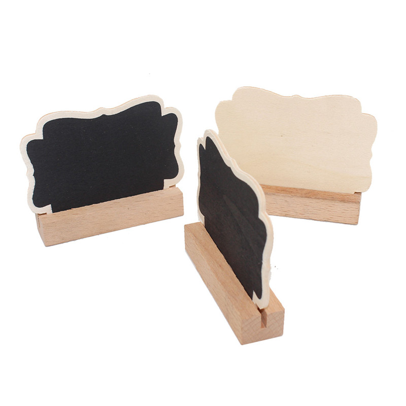 50pcs/Lot Butterfly Wooden Blackboard With Card Slot Students' DIY Tools Mini Blackboard Office School Supplies