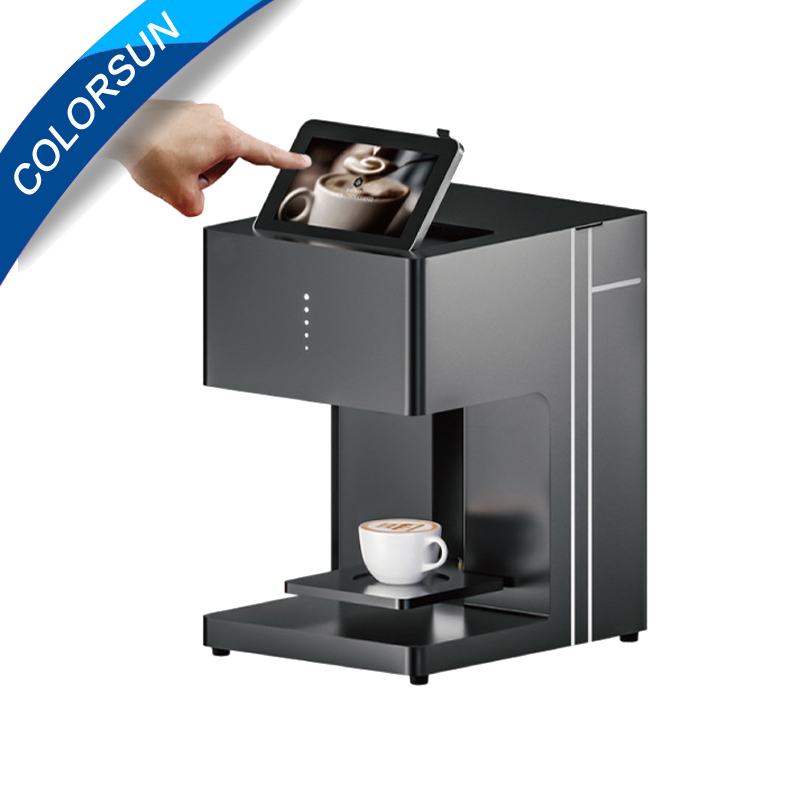 Touch screen Coffee printer Edible ink printer Art Beverages Food Pull Flower selfie coffee with WIFI with ink