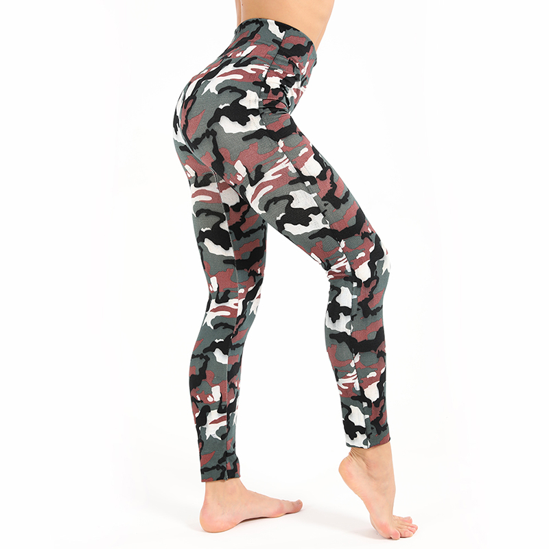 Sexy Camouflage Print Fitness   Leggings   Women Polyester For Plus Size High Waist Elastic Push Up Leisure Jeggings Workout Legins