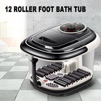 Multifunctional Fully Automatic Electric Roller Feet Basin Heating Foot Tub Foot Massage Machine Foot Spa Bath Massager US Plug