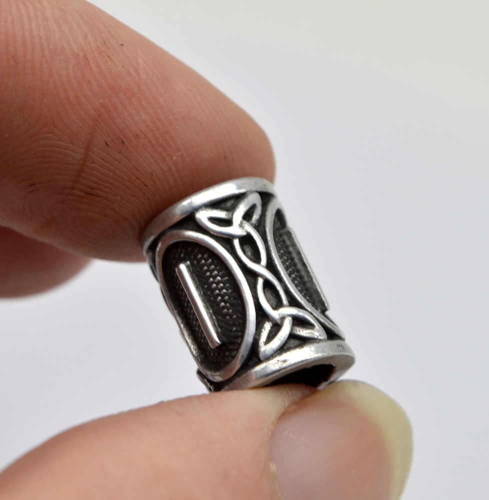 1 шт Серебряные бусы с рунами викингов амулеты для браслетов для кулона ожерелья DIY для бороды или волос настоящие фотографии