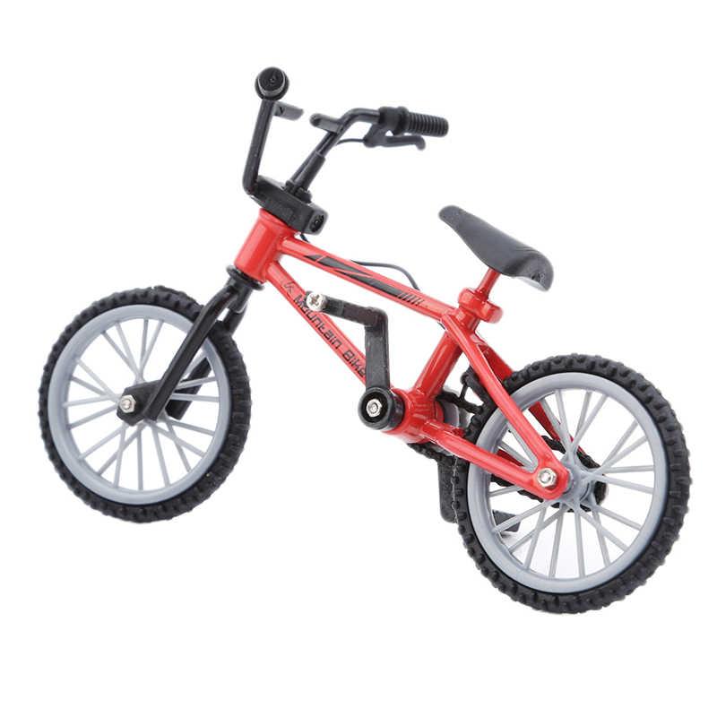Fingerboard игрушечные велосипеды с тормозной веревкой синий имитация сплава палец bmx велосипед детский подарок мини размер новая распродажа