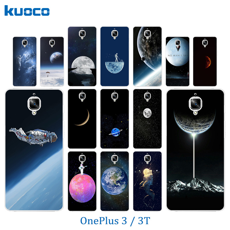 Phone Case for OnePlus 3 / 3T Case A3000 Space World Pattern Protective Back Cover for One Plus 3 Fundas OnePlus3 T Coque Bags