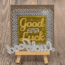 Good Luck Letter Metal Cutting Dies Words for Scrapbooking Album Greeting Card Making Paper Embossing Die Cuts