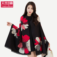 2016 Autumn Winter Style Graffiti Imitation Cashmere Scarves Scarf Fashion Women Soft Printing All Match Cotton