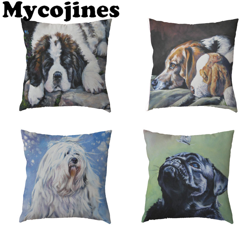 Home & Garden Animal Dog Photo Pillow Decorative Cushion Covers For Sofa Pillow Case 45*45 Great Dane Dogs Pillowcase Cushions Home Decor Grade Products According To Quality