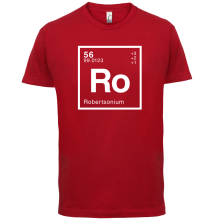 ROBERTSON Periodic Element - Mens T-Shirt Geeky / Chemistry 13 Colours Name Print T Shirt Short Sleeve Hot Tops