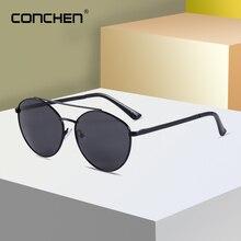 CONCHEN Polarized Retro Pilot Sunglasses For Men Alloy Frame UV400 Driving Sun Glasses Outdoor Fishing