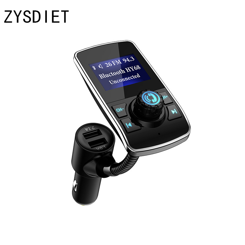 5V 3.1A Bluetooth Car Kit Handsfree FM Transmitter Audio MP3 Music Player APP Car Locator Dual USB Car Charger With TF Card Slot цена
