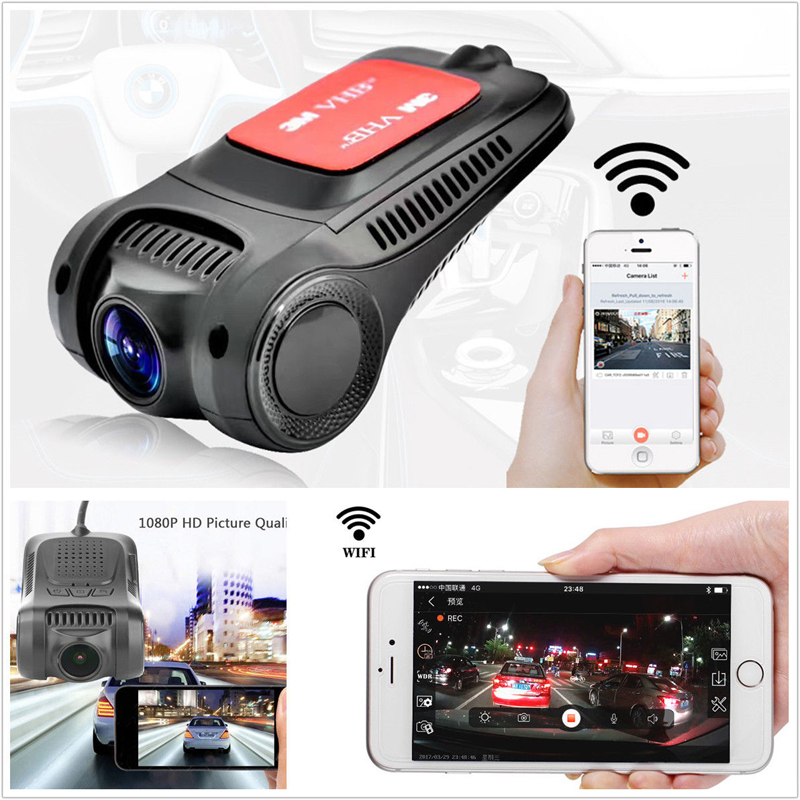 APRICOTCAR HD Mini DVR Driving Video Recorder Dash Cam Wifi Smart Phone APP Control High Speed DVR Car Black Box for skoda octavia2 car driving video recorder dvr mini control app wifi camera black box registrator dash cam original style