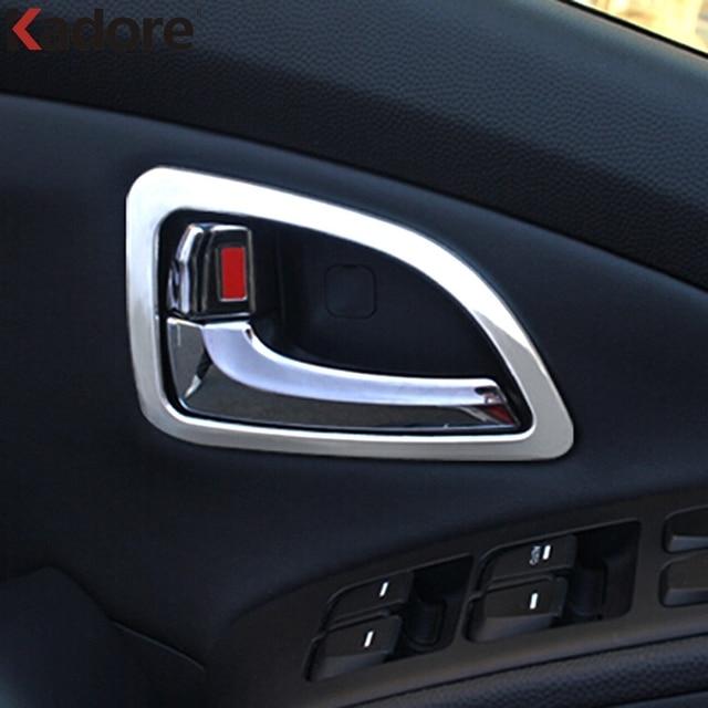 voor hyundai ix35 2011 2012 2013 2015 interieur deurklink kom beschermen cover abs matte deur