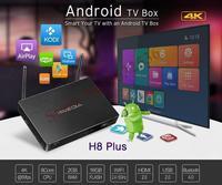 Najnowszy, HIMEDIA H8 Plus, octa-core chipy 2 GB RAM 16 GB Flash Android TV Box, Domu TV odtwarzacz sieciowy, 3D 4 K UHD, Bluetooth, Set-Top Box