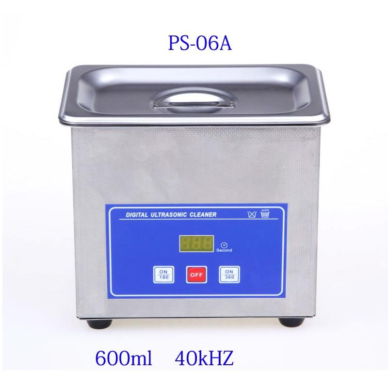 Mini Digital Ultrasonic Cleaner Metal Basket Washing Jewelry Watches Dental PCB CD 600ml 35W 40kHz Cleaner Bath цена 2017